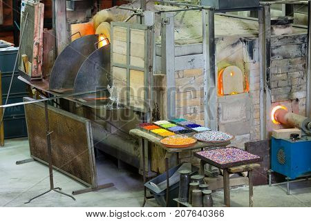 Glass Furnace View,venice,italy
