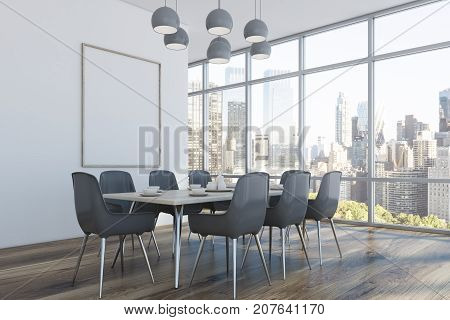 Dining Room, Gray Chairs, Corner
