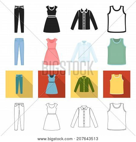 exclusive, textiles, atelier and other  icon in different style., model, fashion, accessories icons in set collection