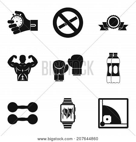 Excellence in sport icons set. Simple set of 9 excellence in sport vector icons for web isolated on white background