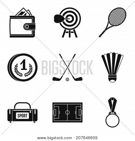 Will to win icons set. Simple set of 9 will to win vector icons for web isolated on white background