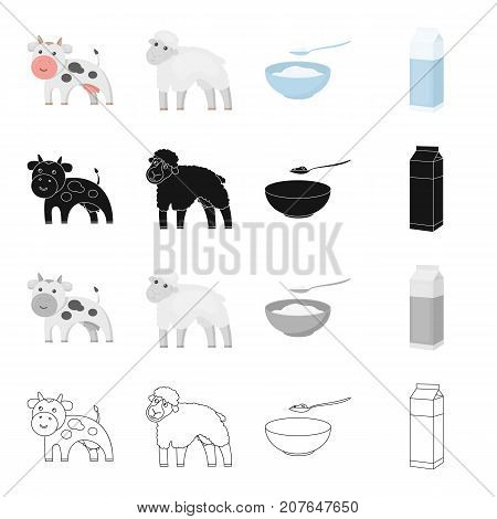 Production, nature, agriculture and other  icon in cartoon style.Animal, domestic, farm, icons in set collection
