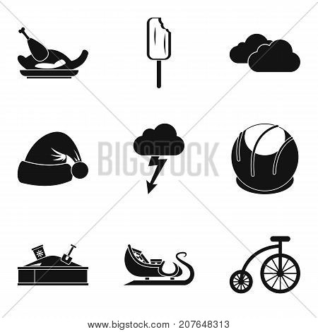 Youthfulness icons set. Simple set of 9 youthfulness vector icons for web isolated on white background