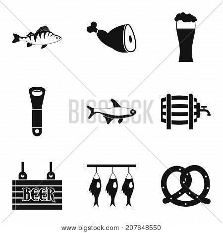 Fish ready icons set. Simple set of 9 fish ready vector icons for web isolated on white background