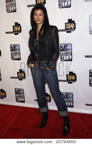 SAN DIEGO - JUL 22: Kelly Hu at the 'GPhoria Strikes Back' party hosted by G4 and Lucasfilm during Comic-Con 2010 held at the Hard Rock Hotel in San Diego, California on July 22, 2010.