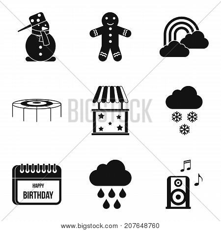 Early childhood icons set. Simple set of 9 early childhood vector icons for web isolated on white background