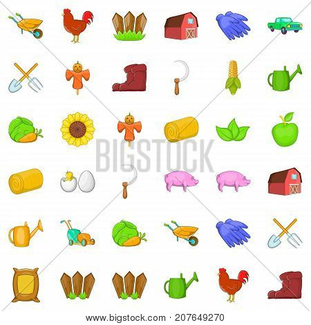 Boot icons set. Cartoon style of 36 boot vector icons for web isolated on white background