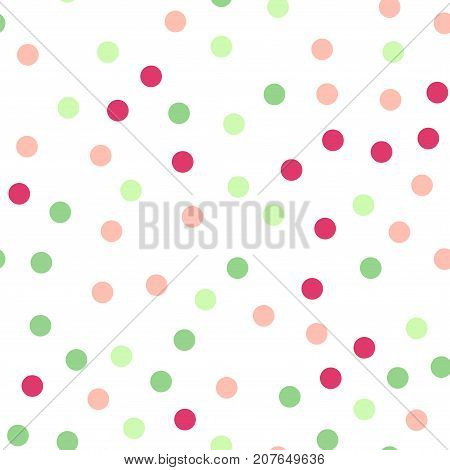 Colorful Polka Dots Seamless Pattern On Black 20 Background. Fetching Classic Colorful Polka Dots Te