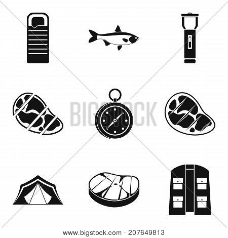 T-bone icons set. Simple set of 9 t-bone vector icons for web isolated on white background