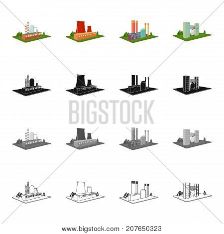 Institution, firm, building, and other  icon in cartoon style.Enterprises, organization, company icons in set collection