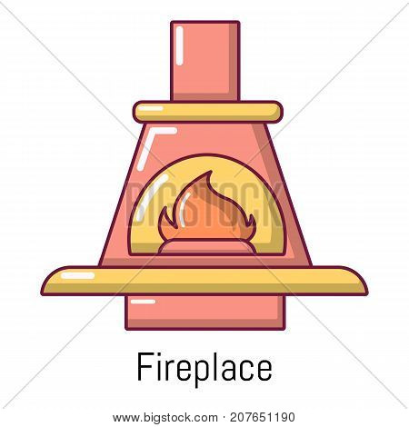 Fireplace icon. Cartoon illustration of fireplace vector icon for web