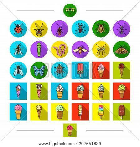 Insects, nature, ecology and other  icon in cartoon style. Culinary, cafes, rest, icons in set collection