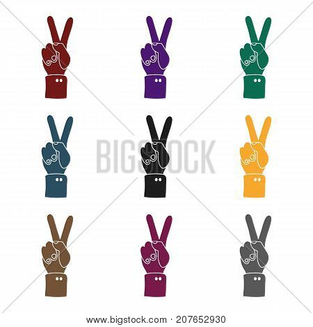 Peace icon in black style isolated on white background. Patriot day symbol vector illustration.