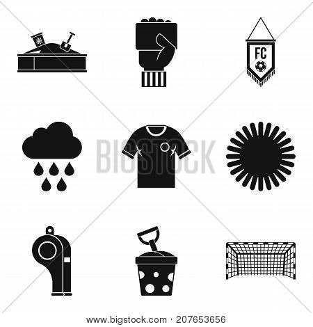Playful icons set. Simple set of 9 playful vector icons for web isolated on white background