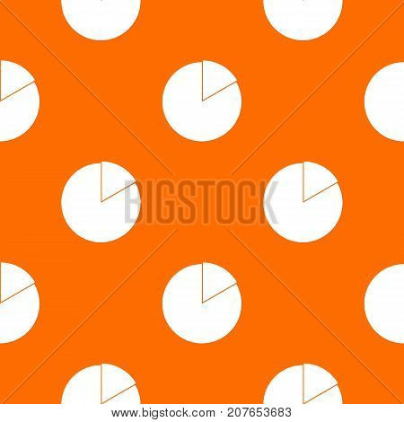 Business pie chart pattern repeat seamless in orange color for any design. Vector geometric illustration