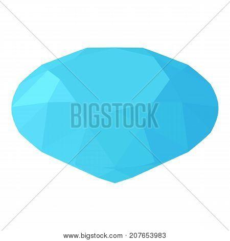 Diamond icon. Isometric illustration of diamond icon for web
