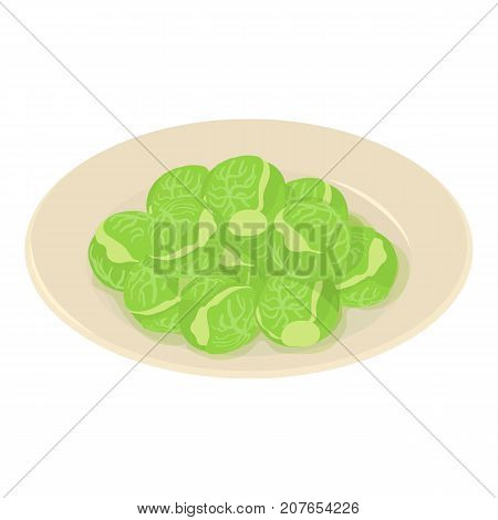 Brussels sprouts icon. Isometric illustration of brussels sprouts icon for web