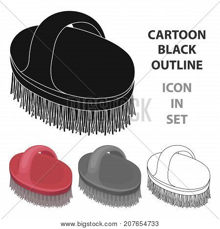 Animal brush.Pet shop single icon in cartoon style vector symbol stock illustration .