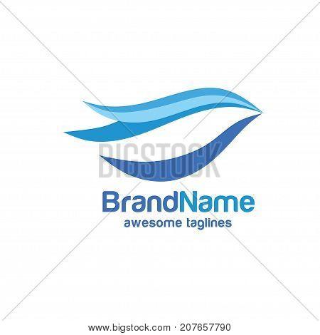 Bird logo. Dove logo, Abstract blue bird logo
