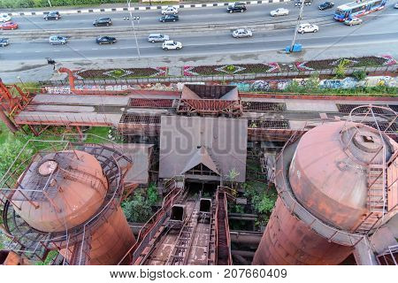 View From Old Blast Furnace On Mining And Metallurgical Plant In Nizhny Tagil