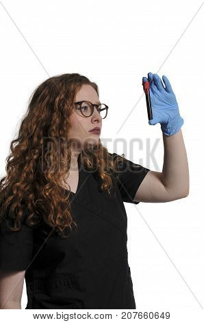 Doctor With Blood Sample