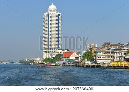 BANGKOK, THAILAND - DECEMBER 12, 2016: View of the modern multi-storey residential complex