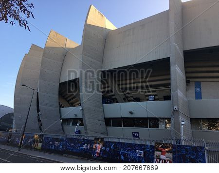Paris France, 24 September 2017: view of Parc des Princes football Stadium home of PSG Paris Saint Germain team and will host 2024 olympic games soccer competition
