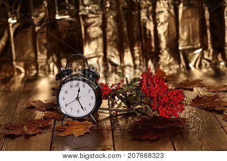 Alarm Clock Retro / Composition with old alarm clock
