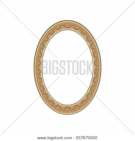 Frame oval of twig card. Fashion graphic background design. Modern stylish abstract texture. Colorful template for prints textiles wrapping wallpaper. Design flat element. Vector illustration