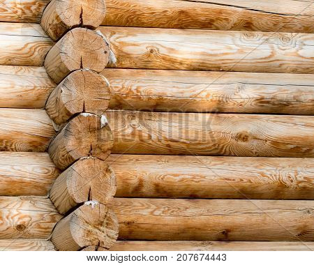 wall with log . Photo of abstract background