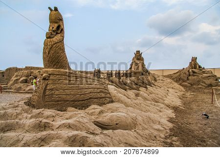 The Motto Of The Sculptured Sandstone Is Sandland