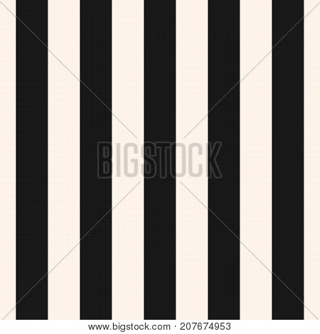 Vertical stripes vector seamless pattern. Wide lines texture. Modern abstract geometric striped background. Simple monochrome black & white bands template. Stripes pattern. Lines pattern. Vertical pattern. Geometric pattern. Design pattern.