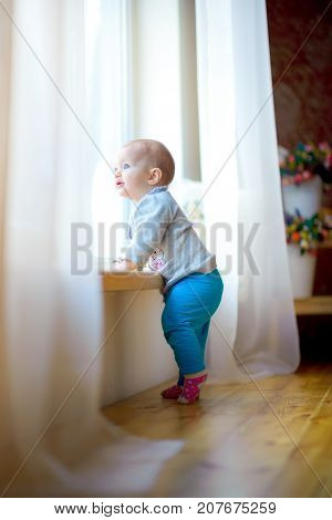 Little Girl Is By The Window