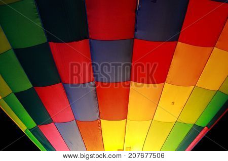 pattern of a colorful hot air balloon