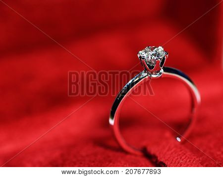 Engagement ring, wedding ring. Diamond ring symbol of love marriage.