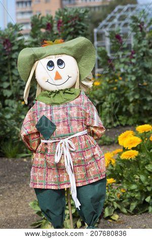 Female Scarecrow, Kitchen Garden, Adelaide Botanic Garden