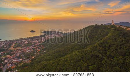 Sunset Above The Way To Kata Karon Beach.