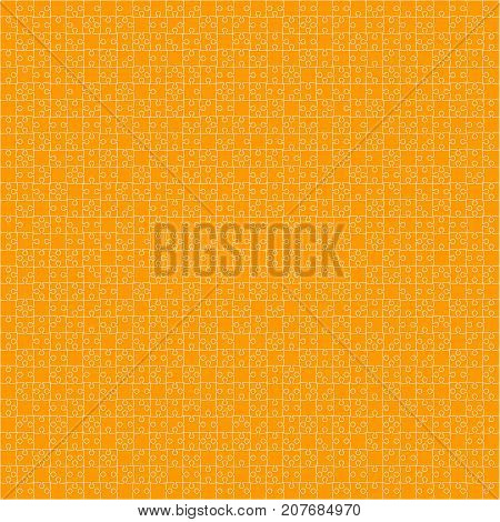 900 Orange Material Design Pieces Arranged in a Square - JigSaw. Jigsaw Puzzle Blank Template.