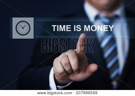 Time Is Money Investment Finance Business Technology Internet Concept.