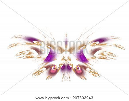 Abstract fractal background Summer Decorative Butterfly. An abstract computer generated modern fractal design on dark background. Abstract fractal color texture. Digital art. Abstract Form & Colors. Abstract fractal element pattern for your design.