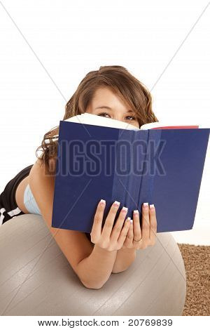 Peeking Over Book