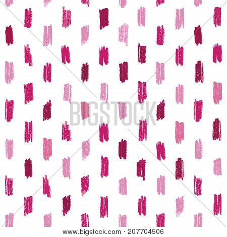 Seamless pattern with red and pink hand drawn crayon strokes. Perfect for websites background wrapping paper wallpaper