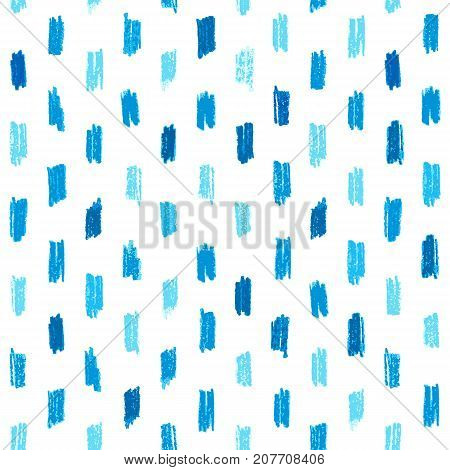 Seamless pattern with blue hand drawn crayon strokes. Perfect for websites background wrapping paper wallpaper decoration.