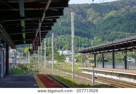 Railway Station In Hakodate, Japan