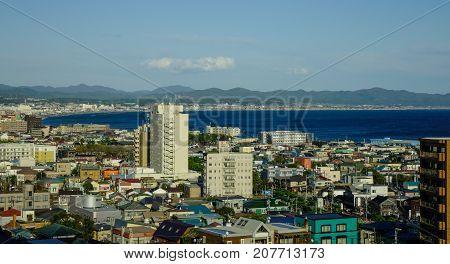 Aerial View Of Hakodate City, Hokkaido, Japan
