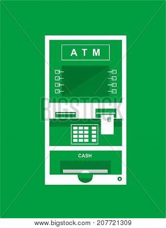 Atm or cash machine for using in bank area
