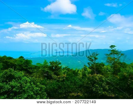 Seascape of Samui Island or Koh Samui, Surat Thani, Thailand.