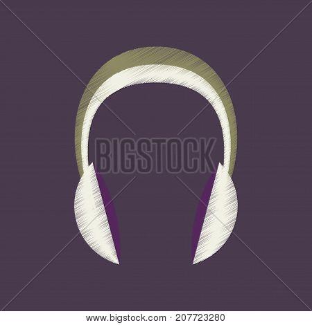 flat shading style icon headphones stereo technology