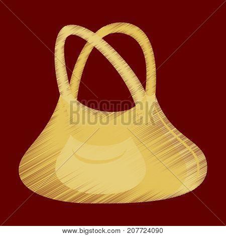 flat shading style icon clothes Handbag fashion