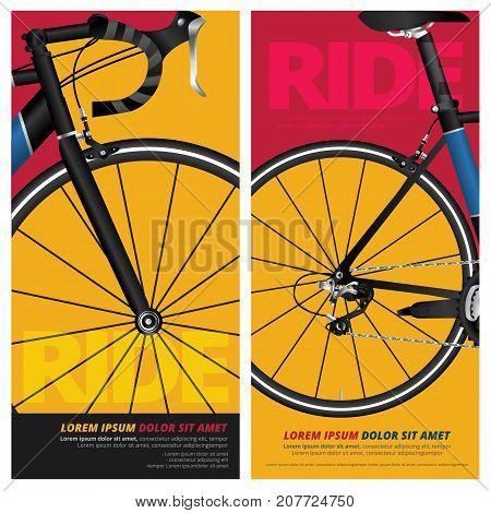 Bicycle Poster, Flyer, Banner Design Vector Illustration